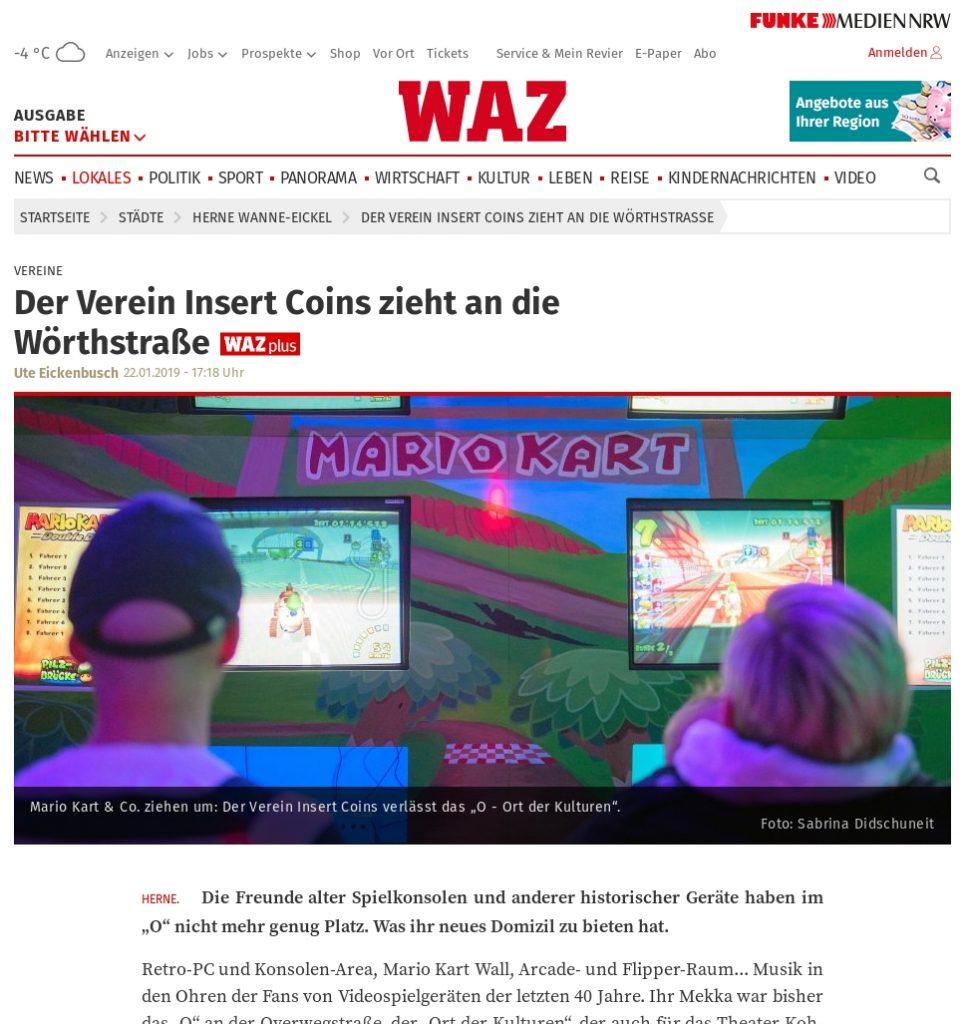 Presse - 2019-01-22 - waz.de Umzug zur Wörthstraße