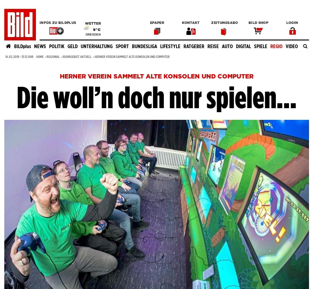 Presse - 2019-02-04 - Bild.de Die woll'n doch nur spielen